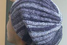 鍵編み帽子
