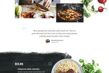 western-style restaurant website design