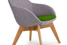 Wooden Framed Breakout Chairs