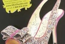 Fabulously Beautiful Shoe Puzzles / Hand Crafted Wooden Jigsaw puzzles all about shoes, Custom Made using your digital photos, colorful graphic designs. From 25-2000 piece fully interlocking puzzles.