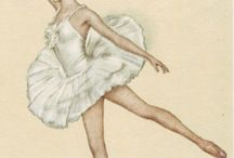 Vintage printables ballerinas