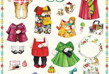 Animal paper dolls