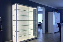 LED Vitrines / LED vitrinekasten, LED vitrines
