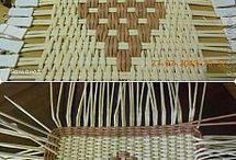 pletení z papíru .. víka / dna