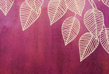 나무잎 일러스트