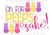 cricut projects for Easter / A collection of cricut made projects for Easter with svg files for t-shirts, mugs, Easter baskets, signs, and more.  #cricutmade #svg