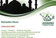 Ramadan Offers from Jedoudna / Enjoy Iftar in the soothing company of friends and family at Jedoudna.