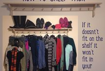Shelf Packing / If it doesn't fit on the shelf it's not going to fit in your carry-on!  Using my peg shelf to arrange and layout a versatile travel wardrobe. Love this method!