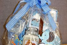 Gift Basket by MMF / We are more than just flowers ~ we also create fun and festive gift baskets that can include everything from mugs, wine glasses and wine charms, candles, jewelry, scarves, platters, plush animals, gourmet items, chocolates and more. Call us to create a custom basket for you. www.sendingsmiles.com 609-520-2005 We deliver and can ship nationwide.