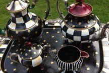 Painted Silver Tea sets