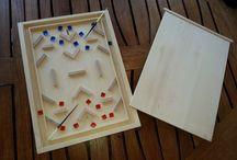 Le Salon de luxe / Jeu en bois de bouleau fabriqué par un artisan Français .  2 joueurs