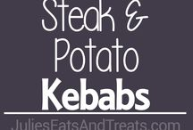 Kebab Recipes / Food on a stick is my favorite kind of food to eat. Kebab recipes can include sweet, savory, or veggies, too!