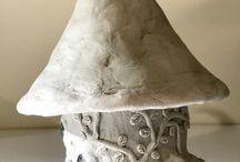 Sculptures maison de fee
