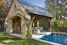 Pools and outdoor entertaining / by Amber Lindquist Baum-Wolfe