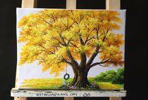 árboles de distintos colores