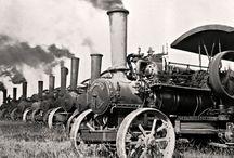 Italian road steam engine esp ploughing