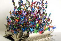 livro + borboletas + instalações