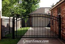 Arched Aluminum Gates / Maintenance free walk gates and driveway gates with a designer sunburst arch.