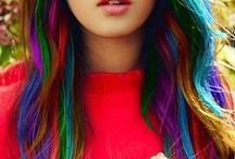 Rainbow Inspired Photoshoot / I envision basically a lot of white with rainbow inspired items such as florals/butterfly on the wall and light hair/fair skin with rainbow hair.  Light and airy feel.