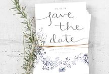 W save the date / by Martha Rodriguez