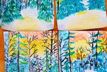 kevät/metsä