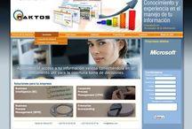 Faktos / http://faktos.com/ Empresa que evalúa la evolución de sus operaciones a través del análisis de su propia información. Destacado del proyecto: Uso intensivo de gif animados, para reducir en los posible el manejo de Flash. Manipulación digital de imágenes, junto con ilustraciones ex profeso para Faktos.  Manipulación de javascripts junto con .CSS para hacer compatible la visual, con distintas versiones de Internet Explorer (desde V5)