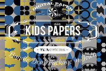 KIDS PAPERS / DIGITAL PAPERS - KIDS PAPERS BY DIGITAL PAPER SHOP
