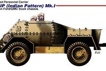 WW II INDIA MILITARY LAND VEHICLES
