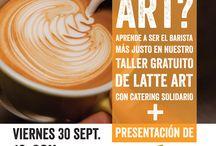 Taller Latte Art / Durante el mes Fairtrade del 2016 realizamos junto a Catering Solidario un taller de Latte Art con una degustación de productos de Comercio Justo.