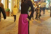 Bi-Gonne / Gonne in tessuto italiano pregiato di lana lucida pettinata disegno Lella Matta