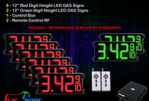 "12"" Gas Price LED Signs"
