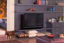 Entertainment Center Ideas / The centerpiece of any media room is the television. California Closets Denver can create a custom storage system that makes your TV the star, but allows other aspects of the room to shine as well. / by California Closets Denver