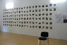 printmaking - shelters mapping / Printmaking from my project mapping civil defence shelters in Slovak town Trenčín. This set of prints contains 116 pictures of shelter emergency exits, only part of bunkers that is visible at every case.  #shelter #bunker #art #printmaking #woodcut