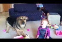 #Собака и #ребенок! #Ddog and #baby!