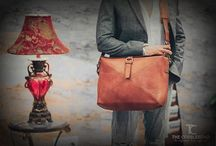 """Leather Bag / Work Satchel Leather Bag - We've created this wonderfully de-cluttered design. Our lovely leather wool combo makes this soft satchel look and feel good from   the outside in, protecting your valuables whilst staying light and slim"""" www.thecobbleroad.in http://goo.gl/iTpl1n"""