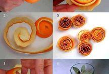 roosjes sinaasappel schil