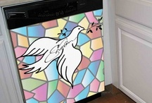 Reface It, Dishwasher Covers / Removable and reusable dishwasher covers with great Jewish themes.  What a great way to decorate! / by Traditions Jewish Gifts