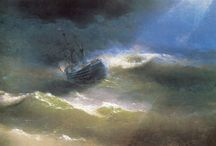 Sea - Storm / Sea and Storm themed Landscape paintings and photos from famous masters. #art, #canvas, #design, #painting, #print, #poster, #decoration