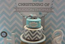 Baptism/Baby shower elephant theme