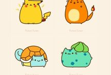 pusheen and pokemon