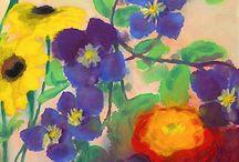Skyn, blomman och en lärka