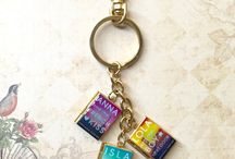 Book Locket Bag Charms/Keyholders