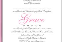 All things Christening / Hand made personalised invitations and stationery.