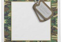 Military Cards / Military Invitation - Customize your own military cards. / by Former Military Spouse ~ Military Divorce