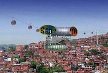 Caracas's favelas / Caracas's new cable-car system