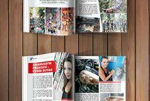 Motorcycle Magazine / Magazine Design, Magazine Page, Magazine Cover