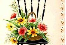 Stare pocztówki - kwiaty
