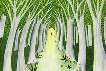 'In The Quiet' Nature Oil on canvas paintings series / The quest to understand myself and life brought me to realize that there is a healthy pristine naturally intelligent state of living. The more connected we are to our own true nature and the natural world the more harmony we feel.