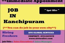 SIVI wallet Career / Freelancer jobs in TAMILNADU Part time / Full time / home based work On Spot OFFER for Fresher and Experience Candidates Sivi Global Services(SIVI Wallet) Contact: 9791667679 www.siviwallet.com