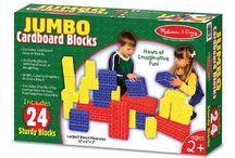 Cardboard toy building blocks